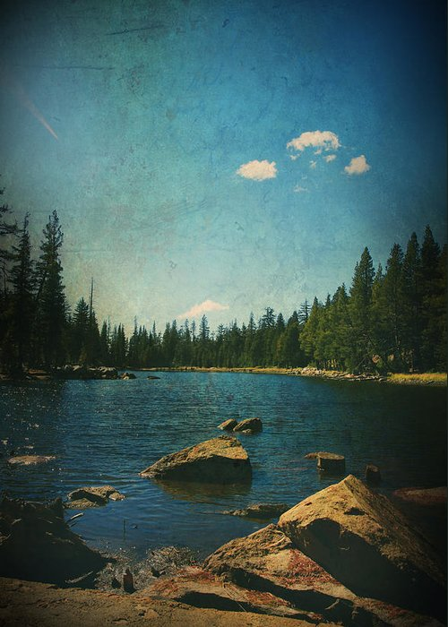Mosquito Lake Greeting Card featuring the photograph If It Could Be Just You And Me by Laurie Search