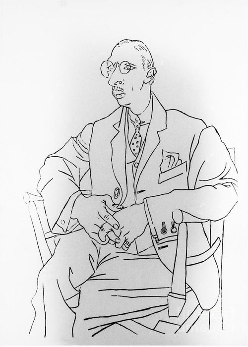History Greeting Card featuring the photograph Igor Stravinsky, Russian Composer by Omikron