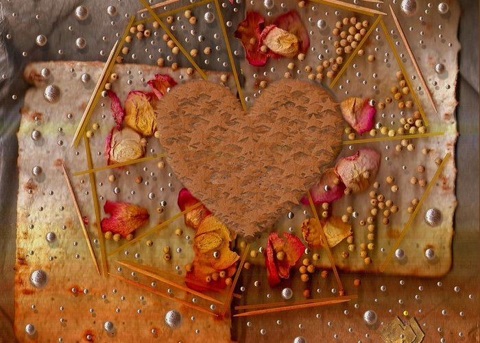 Cookie Greeting Card featuring the mixed media In Cookie And Bread Style by Pepita Selles