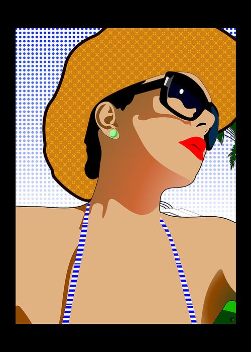 In The Sun Greeting Card featuring the digital art In The Sun by Barrington Black