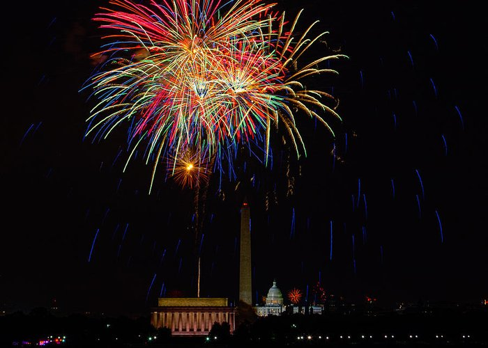 4th Of July Greeting Card featuring the photograph Independence Day In Dc 2 by David Hahn