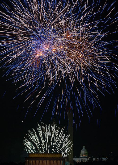 4th Of July Greeting Card featuring the photograph Independence Day In Dc 5 by David Hahn