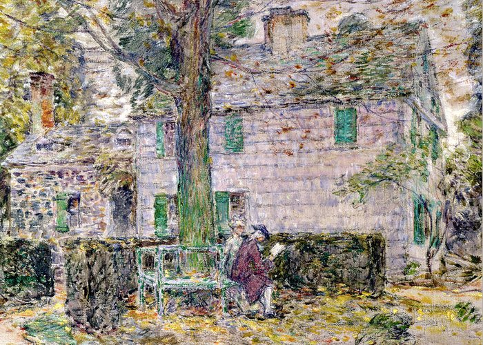 Indian Summer In Colonial Days Greeting Card featuring the painting Indian Summer In Colonial Days by Childe Hassam