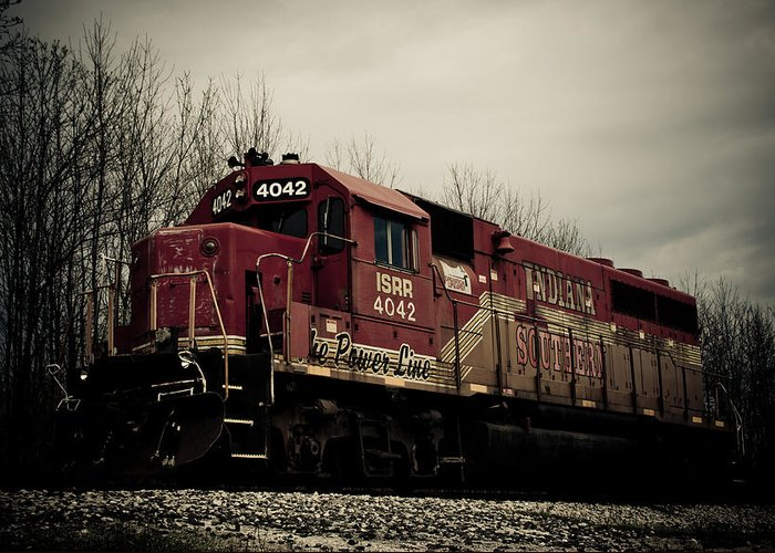 Train Greeting Card featuring the photograph Indiana Southern by Off The Beaten Path Photography - Andrew Alexander