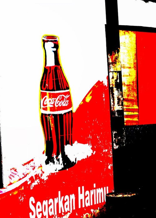 Bali Greeting Card featuring the photograph Indonesian Coke Ad by Funkpix Photo Hunter