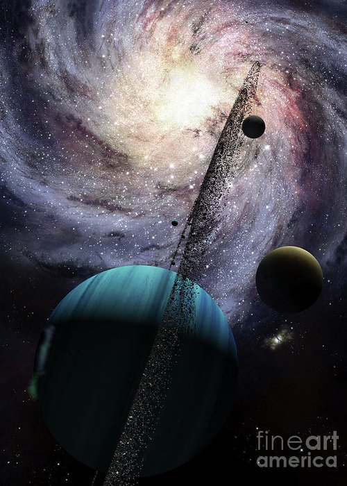 Artwork Greeting Card featuring the digital art Indra, A Fast Spinning Gas Giant by Brian Christensen