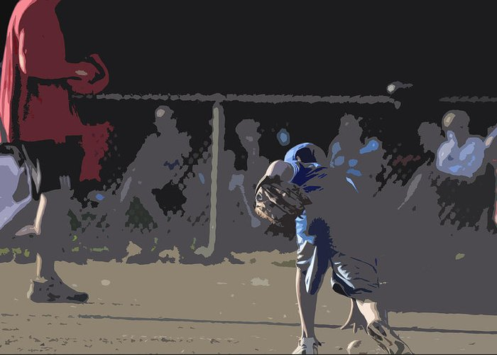 Baseball Greeting Card featuring the photograph Infield by Peter McIntosh