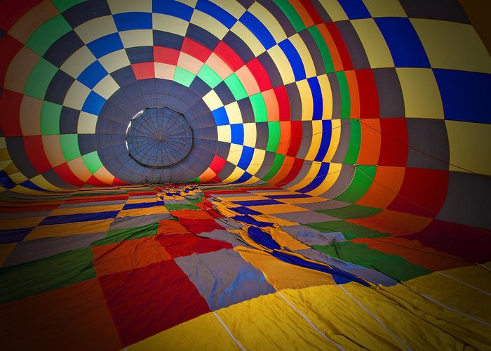 Rick Berk Photography Greeting Card featuring the photograph Inflating by Rick Berk