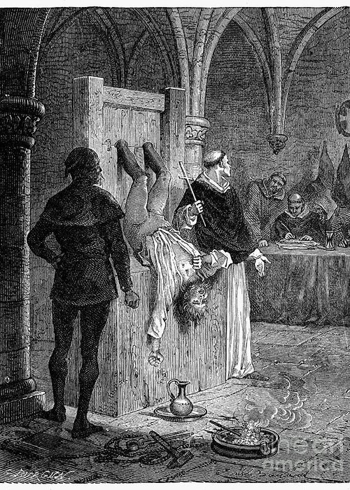 16th Century Greeting Card featuring the photograph Inquisition: Torture by Granger
