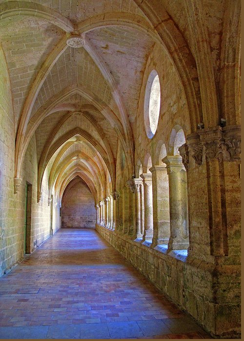Monastery Greeting Card featuring the photograph Inside A Monastery by Dave Mills