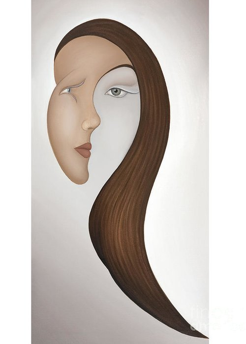 Sensual Greeting Card featuring the painting Insight by Joanna Pregon