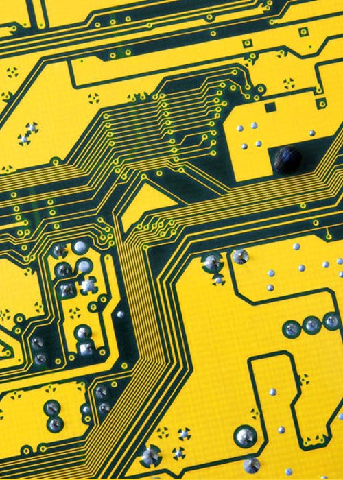 Abstract Greeting Card featuring the photograph Integrated Circuit by Carlos Caetano