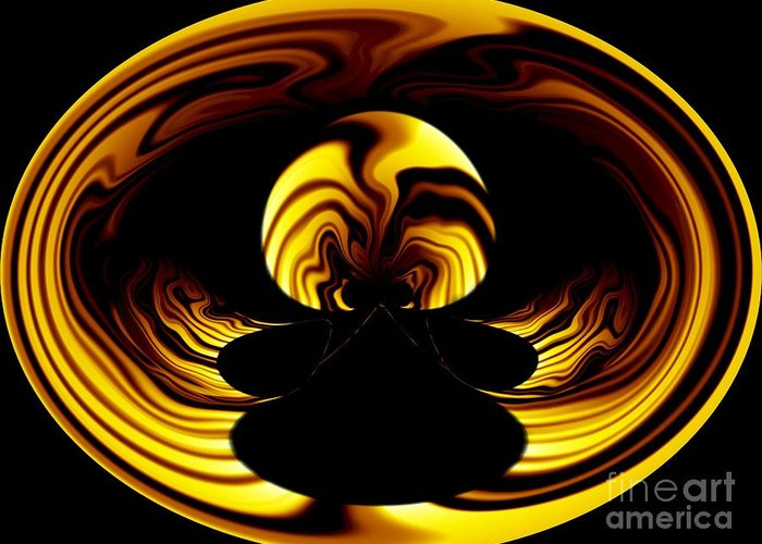 Fire Greeting Card featuring the digital art Internal Flame by Laurence Oliver