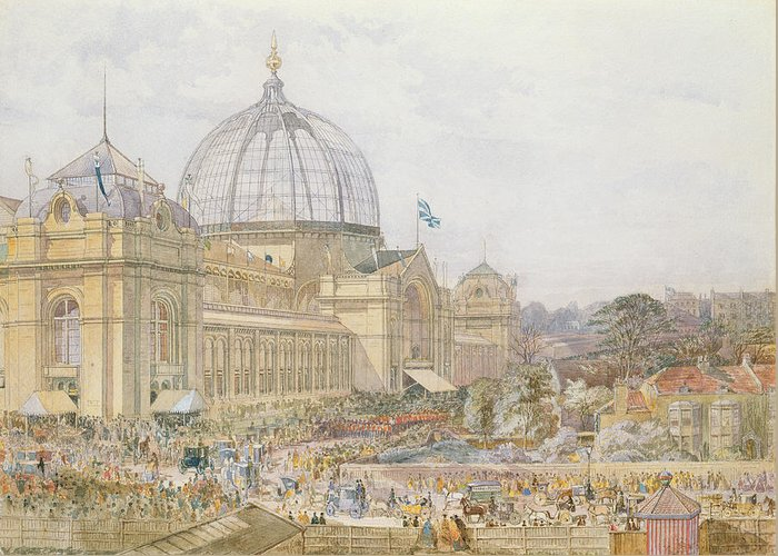 Building Greeting Card featuring the painting International Exhibition by Edward Sheratt Cole