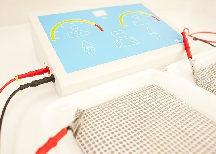 Studio Shot Greeting Card featuring the photograph Iontophoresis Equipment by