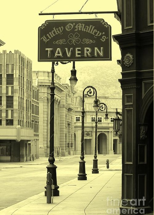Tavern Greeting Card featuring the photograph Irish Pub by Sophie Vigneault