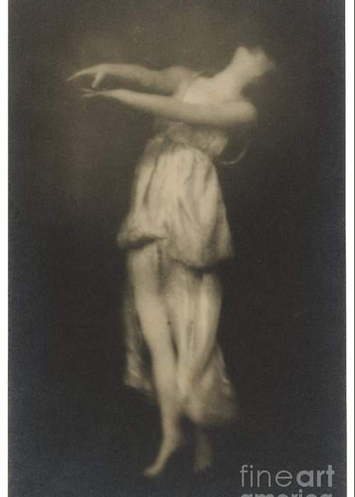 Adopted Daughter Of The Dancer Greeting Card featuring the photograph Irma Duncan by Arnold Genthe