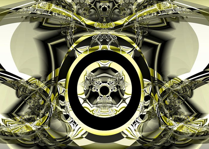 Fractal Art Digital Art Greeting Card featuring the digital art Iron Work by Frederic Durville