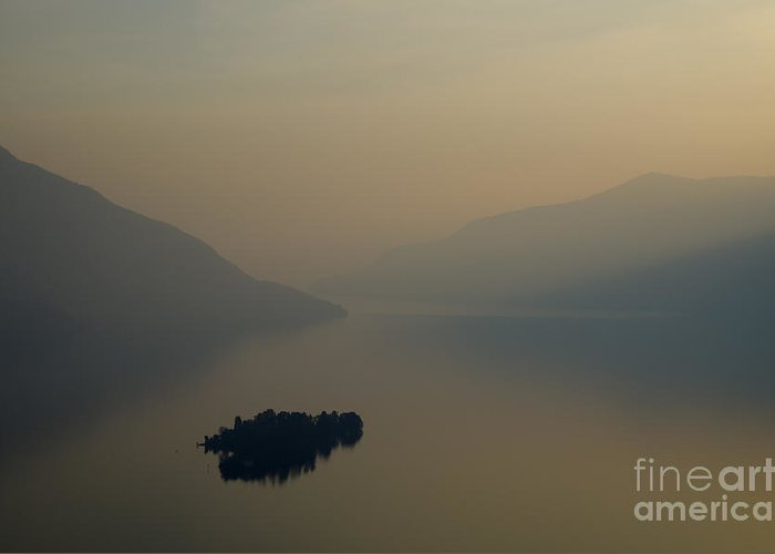Island Greeting Card featuring the photograph Islands And Orange Sky by Mats Silvan