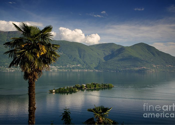 Island Greeting Card featuring the photograph Islands On An Alpine Lake by Mats Silvan