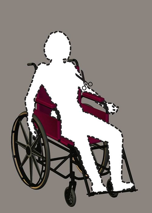 Equipment Greeting Card featuring the photograph Isolation Through Disability, Artwork by Stephen Wood