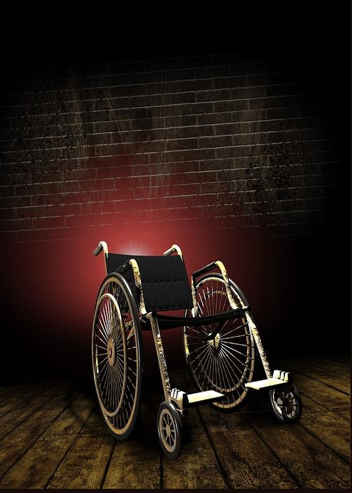 Equipment Greeting Card featuring the photograph Isolation Through Disability, Artwork by Victor Habbick Visions