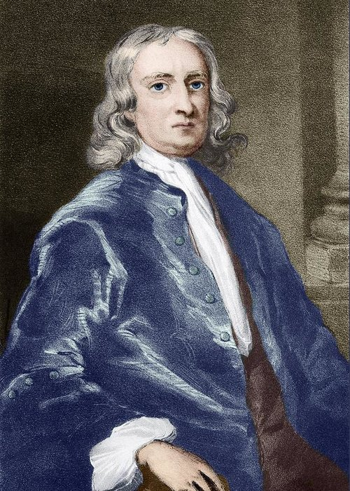 Isaac Newton Greeting Card featuring the photograph Issac Newton, English Physicist by Sheila Terry