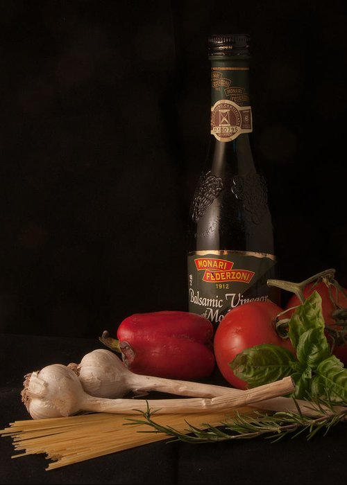 Still Life Greeting Card featuring the photograph Italian Palate Number 1 by Constance Sanders