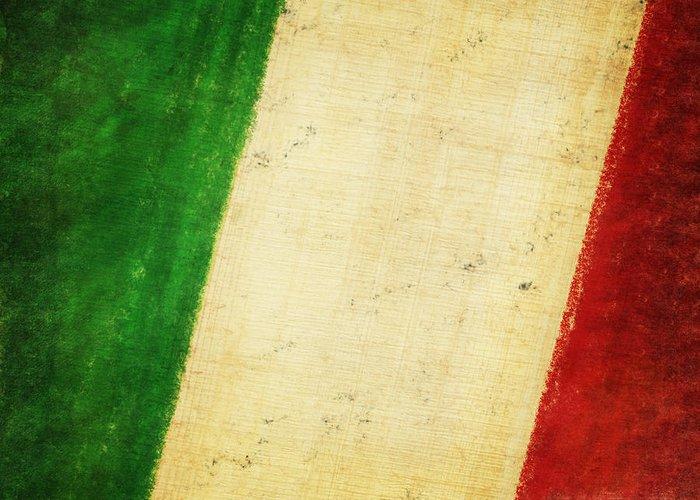 Antique Greeting Card featuring the photograph Italy Flag by Setsiri Silapasuwanchai