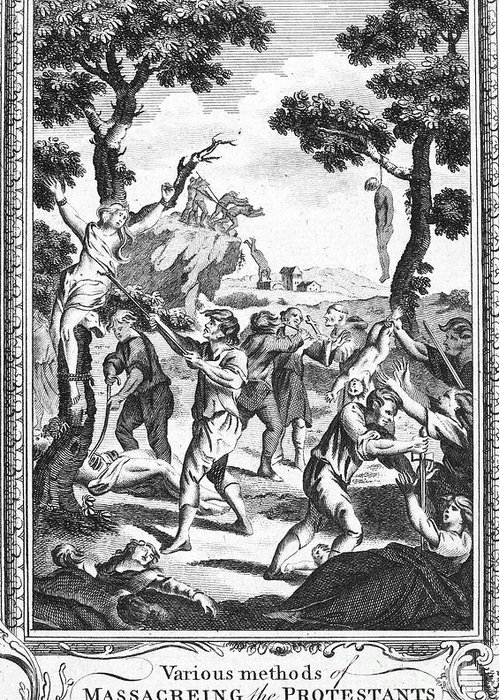 16th Century Greeting Card featuring the photograph Italy: Protestant Martyrs by Granger