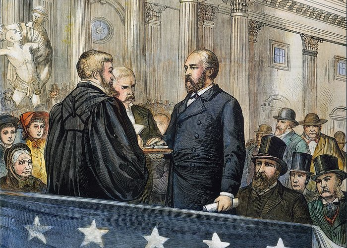 1881 Greeting Card featuring the photograph J. A. Garfield: Inauguration by Granger