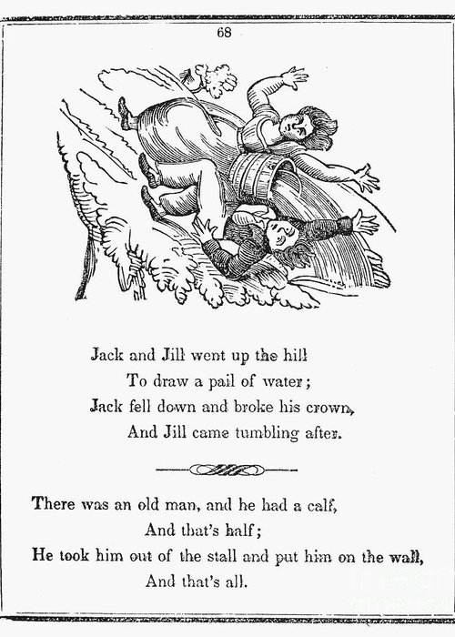 1833 Greeting Card featuring the photograph Jack And Jill, 1833 by Granger