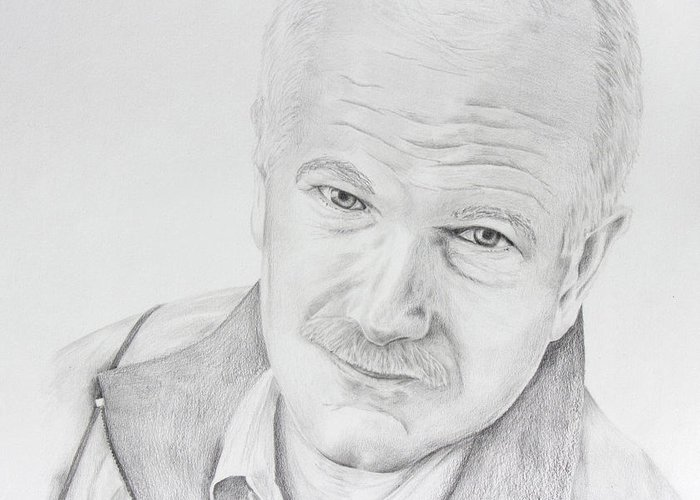 Jack Layton Greeting Card featuring the drawing Jack Layton by Daniel Young