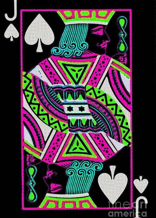 Card Greeting Card featuring the photograph Jack Of Spades by Wingsdomain Art and Photography