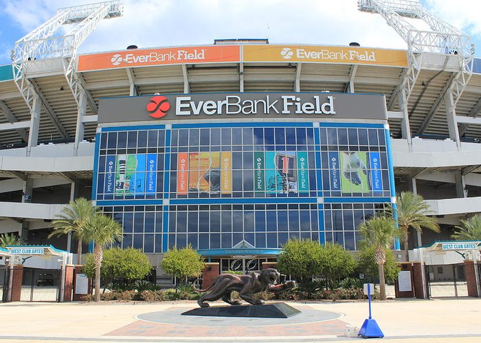 Jacksonville Greeting Card featuring the photograph Jacksonville Jaguars Stadium by Rod Andress