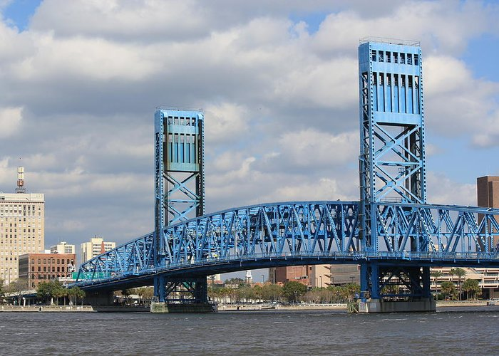 Jacksonville Greeting Card featuring the photograph Jacksonville Main Street Bridge by Rod Andress