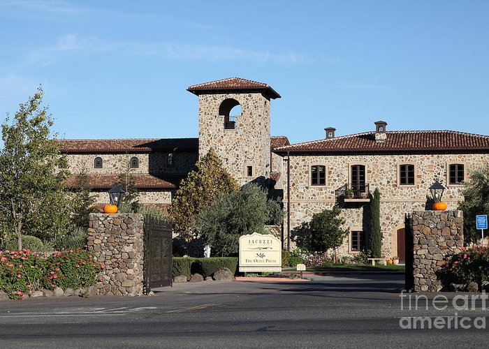 Sonoma Greeting Card featuring the photograph Jacuzzi Family Vineyards - Sonoma California - 5d19322 by Wingsdomain Art and Photography