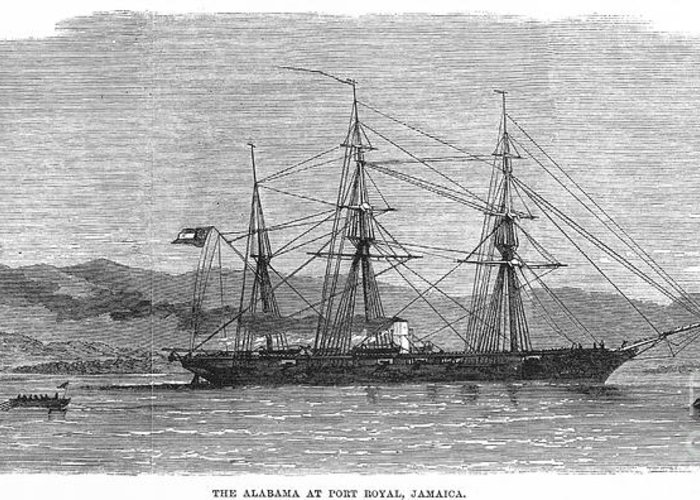 1863 Greeting Card featuring the photograph Jamaica: Css Alabama, 1863 by Granger