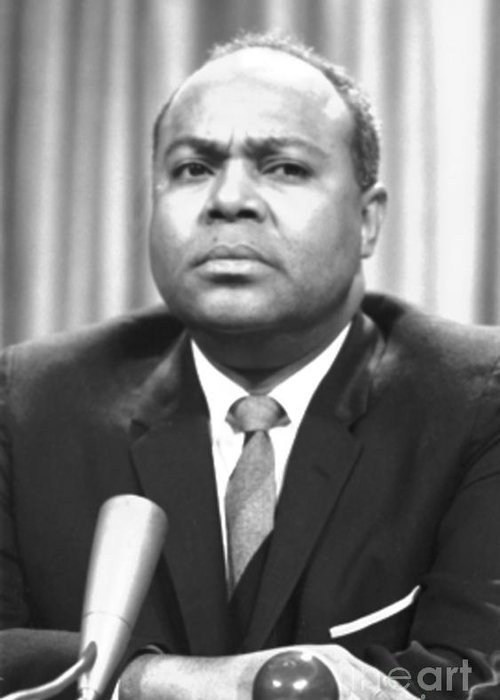 1964 Greeting Card featuring the photograph James Farmer (1920-1999) by Granger