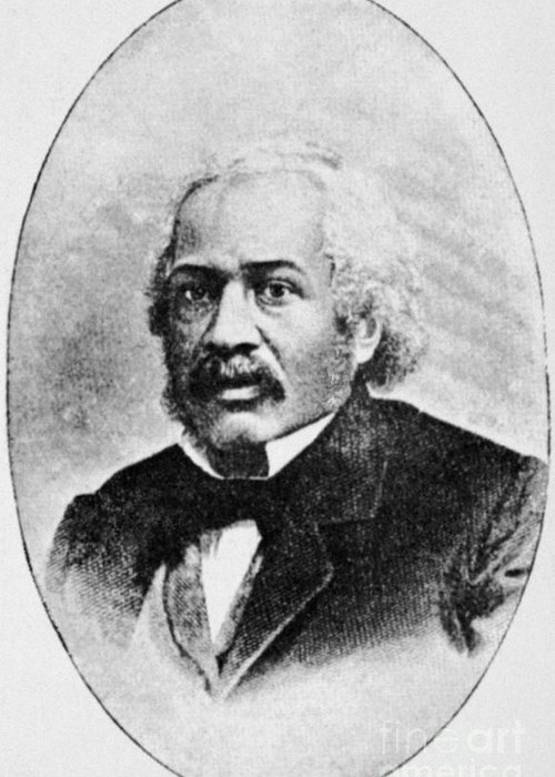 19th Century Greeting Card featuring the photograph James Mccune Smith by Granger