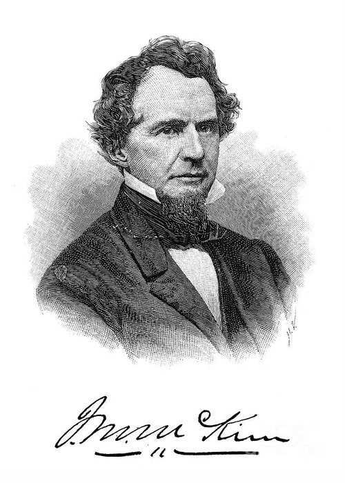 19th Century Greeting Card featuring the photograph James Miller Mckim by Granger