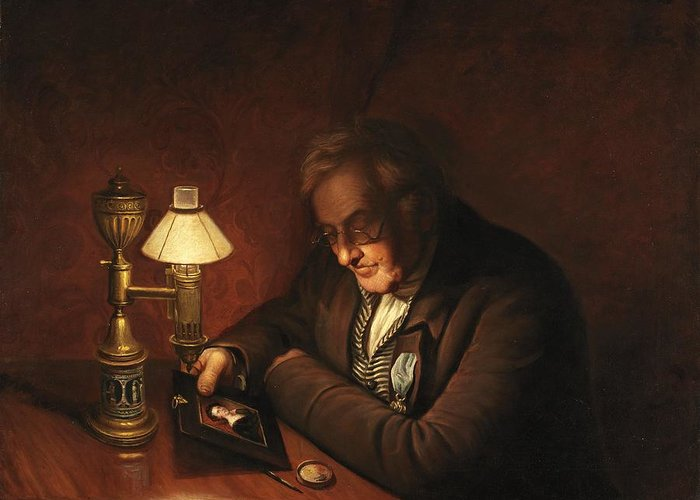 James Greeting Card featuring the painting James Peale by Charles Willson Peale