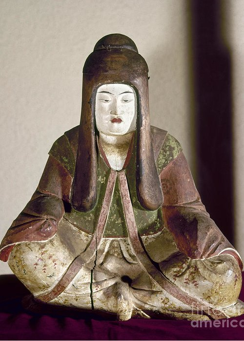 9th Century Greeting Card featuring the photograph Japan: Statue, 9th Century by Granger