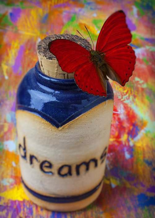 Jar Greeting Card featuring the photograph Jar Of Dreams by Garry Gay