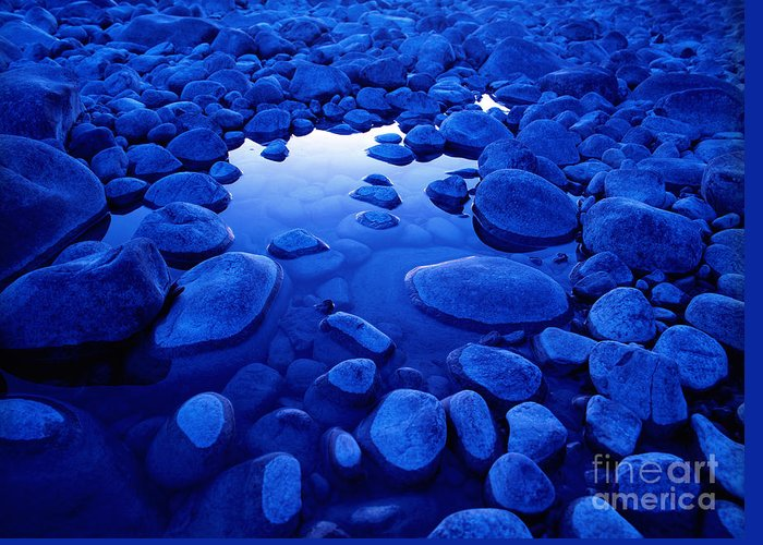 Athabasca River Greeting Card featuring the photograph Jasper - Blue Boulders by Terry Elniski