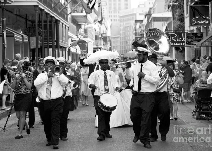 New Orleans Greeting Card featuring the photograph Jazz Wedding by Leslie Leda