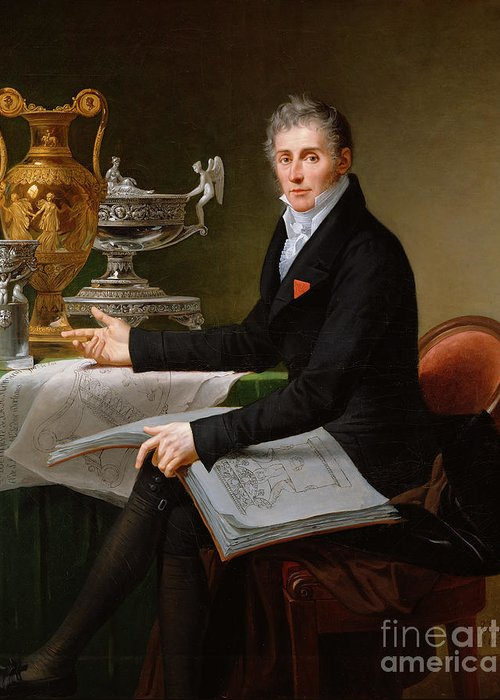 Jean-baptiste-claude Greeting Card featuring the painting Jean-baptiste-claude Odiot by Robert Lefevre