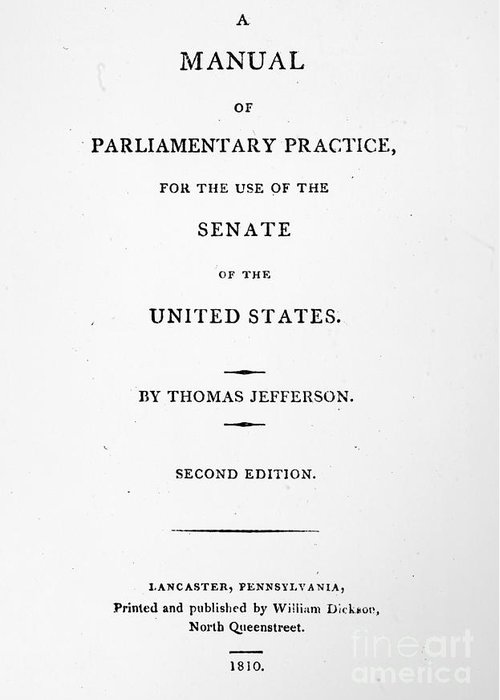 1810 Greeting Card featuring the photograph Jefferson: Title Page, 1810 by Granger