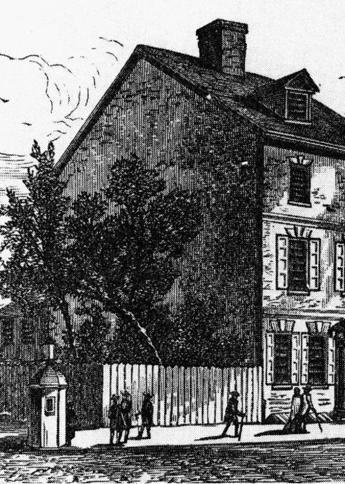 1776 Greeting Card featuring the photograph Jeffersons House, 1776 by Granger