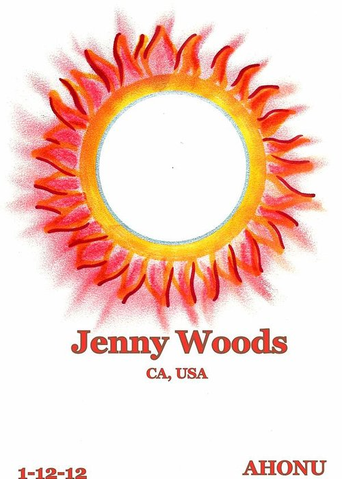 Ahonu Greeting Card featuring the painting Jenny Woods by Ahonu